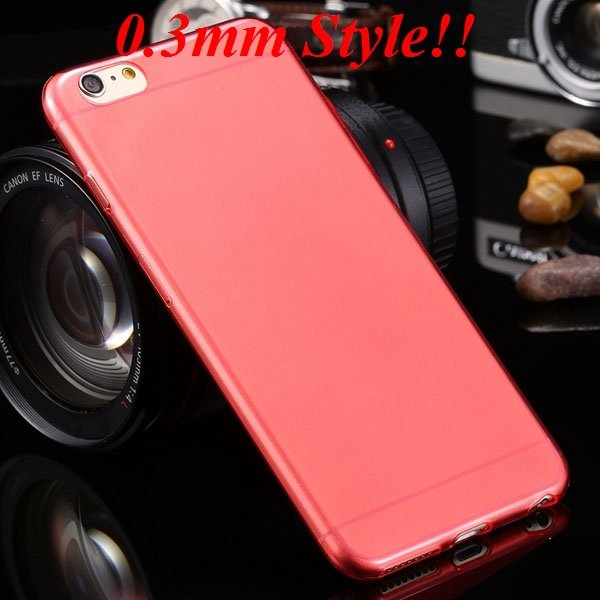 I6 Plus Tpu Clear Case Ultra Thin Flexible Soft Cover For Iphone 6 32237203163-9-Thin red
