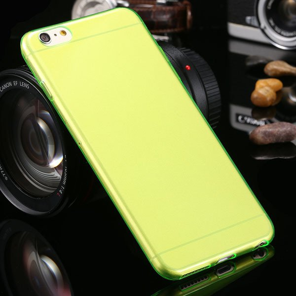 Newest 0.3Mm Ultra Thin Soft Tpu Clear Case For Iphone 6 Plus 5.5' 2021451886-2-green