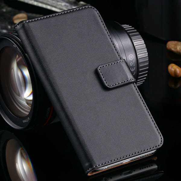 Advancest Genuine Leather Cover For Iphone 6, 4.7'' Case Flip Open 2012272802-1-black