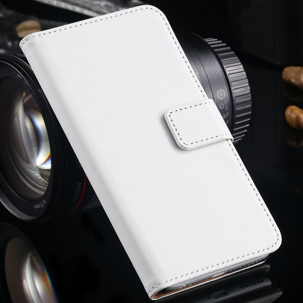 Advancest Genuine Leather Cover For Iphone 6, 4.7'' Case Flip Open 2012272802-2-white