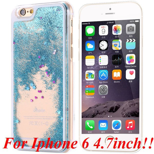 I6/6+ Glitter Quicksand Clear Case For Iphone 6 4.7Inch/5.5Inch Pl 32277057350-5-blue for iphone 6