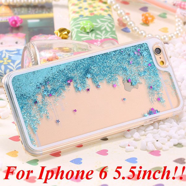 I6/6+ Glitter Quicksand Clear Case For Iphone 6 4.7Inch/5.5Inch Pl 32277057350-10-blue for plus