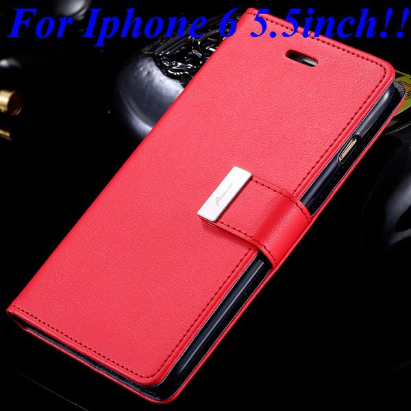 I6/6 Plus Luxury Original Brand Case Pu Leather Cover With Card Ba 32275986058-8-red for plus