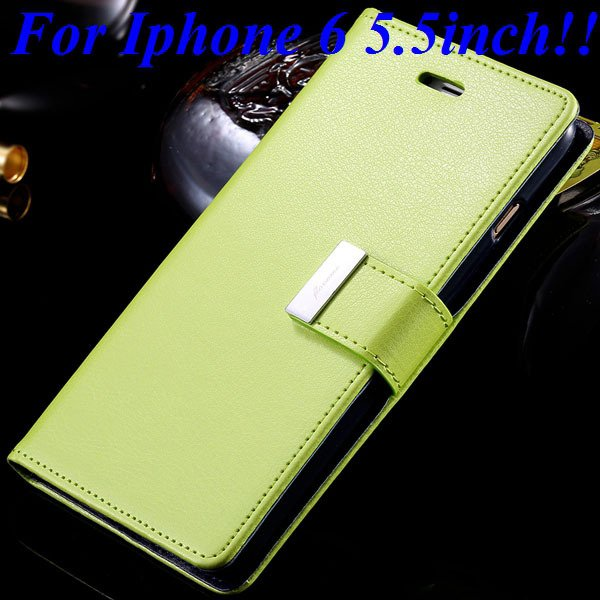 I6/6 Plus Luxury Original Brand Case Pu Leather Cover With Card Ba 32275986058-9-green for plus