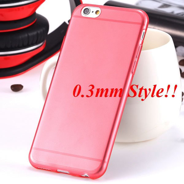Latest Flexible Soft High Transparent Case For Iphone 6 4.7'' Clea 2042995313-10-Thin red