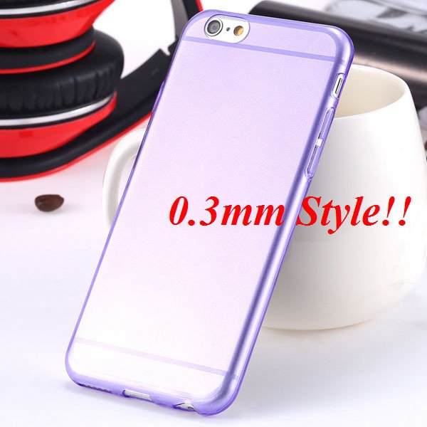 Latest Flexible Soft High Transparent Case For Iphone 6 4.7'' Clea 2042995313-11-Thin purple