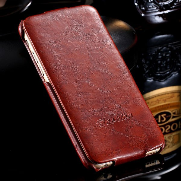 I6 Full Case Smooth Wax Flip Cover For Iphone 6 4.7Inch Pu Leather 2045395967-2-brown