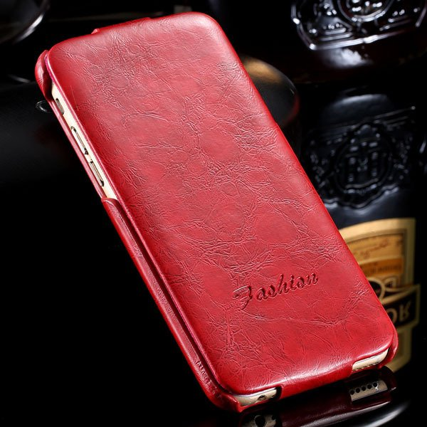 I6 Full Case Smooth Wax Flip Cover For Iphone 6 4.7Inch Pu Leather 2045395967-5-red