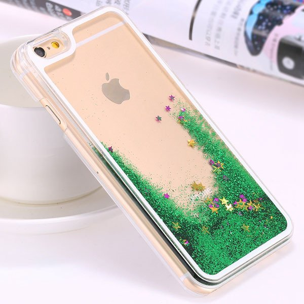I6 Plus Flow Liquid Sand Glitter Quicksand Back Case For Iphone 6  32278056572-5-star green