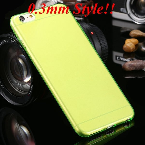 Super Thin Flexible Clear Soft Back Cover For Iphone 6 Plus 5.5Inc 32236998642-3-Thin green