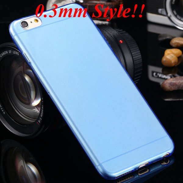 Super Thin Flexible Clear Soft Back Cover For Iphone 6 Plus 5.5Inc 32236998642-4-Thin blue