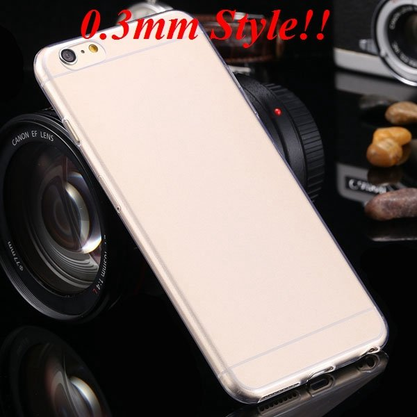 Super Thin Flexible Clear Soft Back Cover For Iphone 6 Plus 5.5Inc 32236998642-5-Thin clear