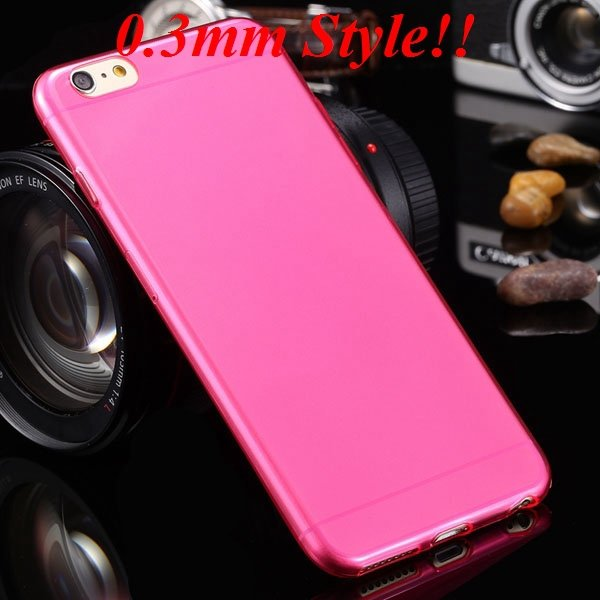 Super Thin Flexible Clear Soft Back Cover For Iphone 6 Plus 5.5Inc 32236998642-7-Thin hot pink