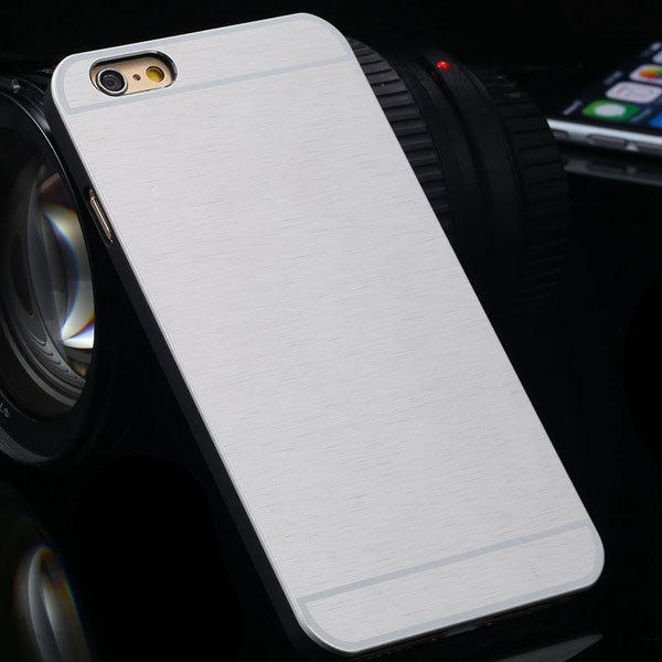 Brandnew Aluminum Metal Brush Back Cover For Iphone 6 4.7'' Slim P 2053374569-8-silver