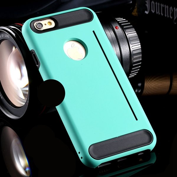 I6 Armor Case Hard Pc + Soft Silicone Back Cover For Iphone 6 4.7I 32249447402-1-mint green