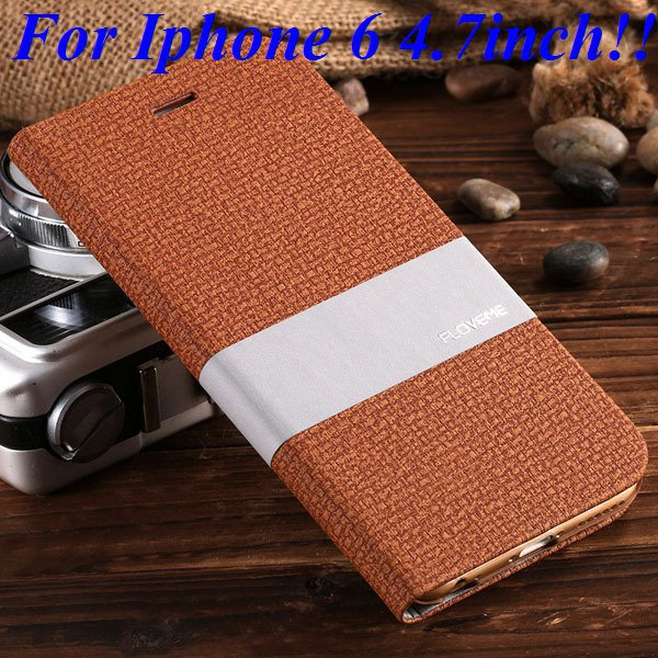 I6/6 Plus Luxury Original Brand Pu Leather Case For Iphone 6 4.7In 32276577085-2-brown for iphone 6