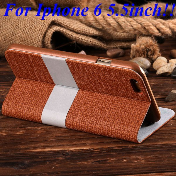 I6/6 Plus Luxury Original Brand Pu Leather Case For Iphone 6 4.7In 32276577085-6-brown for plus