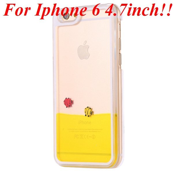 I6/6 Plus Dynamic Flowing Liquid Fish Clear Case For Iphone 6 4.7I 32277567848-2-yellow for iphone 6