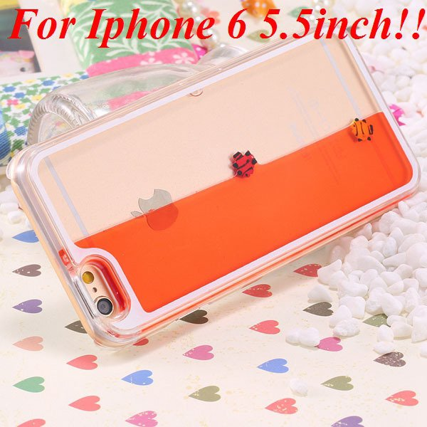 I6/6 Plus Dynamic Flowing Liquid Fish Clear Case For Iphone 6 4.7I 32277567848-7-orange for plus