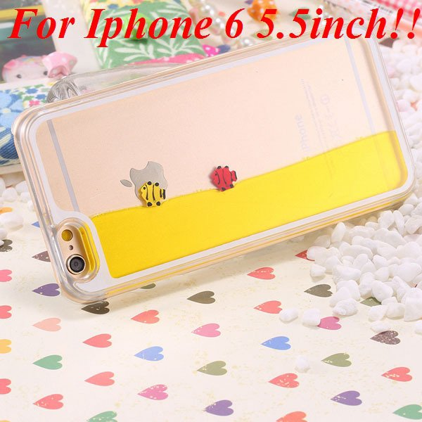 I6/6 Plus Dynamic Flowing Liquid Fish Clear Case For Iphone 6 4.7I 32277567848-8-yellow for plus