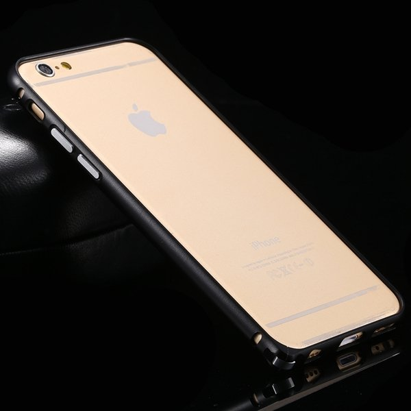 I6 Metal Frame Aluminum Case For Iphone 6 4.7Inch Slim Protective  32213754716-1-black