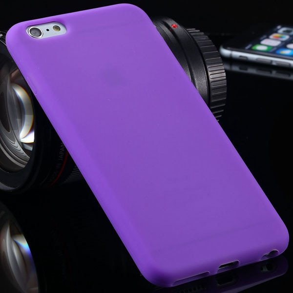Ultra Soft Silicone Cover For Iphone 6 Plus 5.5Inch Back Phone Cas 2053450499-2-purple
