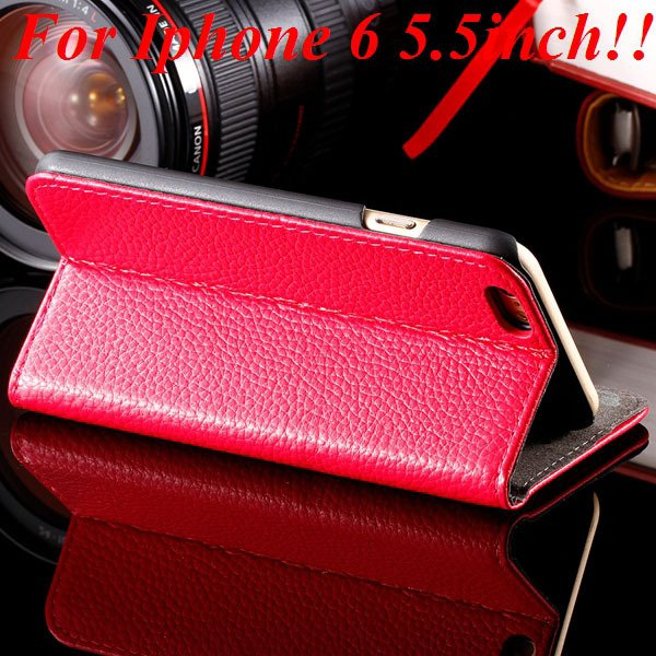 I6/6Plus Genuine Leather Case For Iphone 6 4.7Inch Full Protect Co 32236491521-7-hot pink for plus