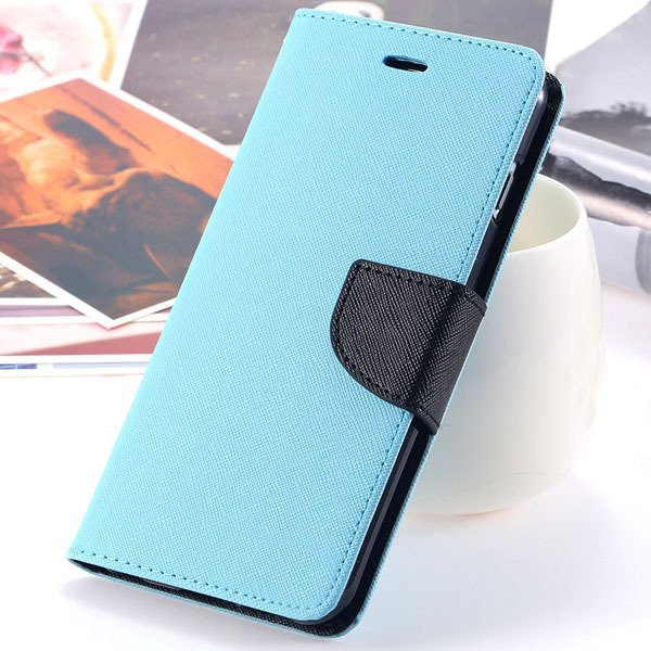 New Pu Leather Full Cover For Iphone 6 4.7 Inch Flip Phone Housing 2052907542-2-sky blue