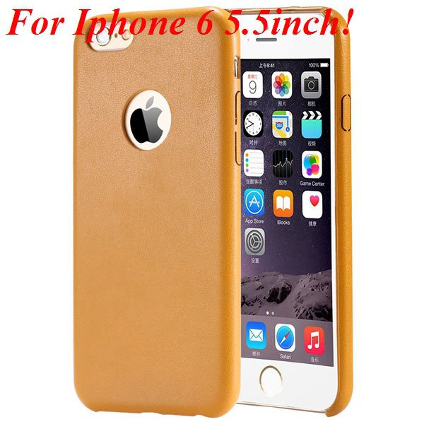 I6 Slim Case Original Ultra Thin Pu Leather Cover For Iphone 6 4.7 32261009616-9-yellow for plus