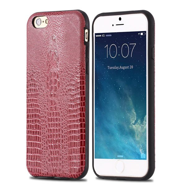 High-End Pu Leather Back Cover For Iphone 6 4.7Inch Cell Phone Bag 32237504954-2-hot pink