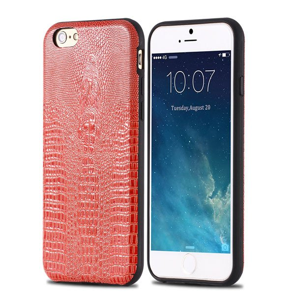 High-End Pu Leather Back Cover For Iphone 6 4.7Inch Cell Phone Bag 32237504954-5-orange