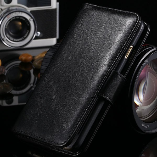 I6 Flip Case Stand Pu Leather Cover For Iphone 6 4.7Inch Wallet Ba 1990100255-1-black