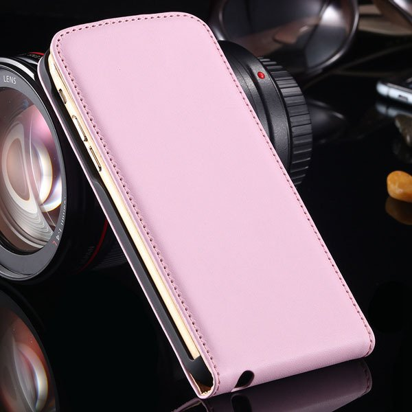 I6 Plus Genuine Leather Cover For Iphone 6 Plus 5.5Inch Flip Verti 32268114738-6-pink