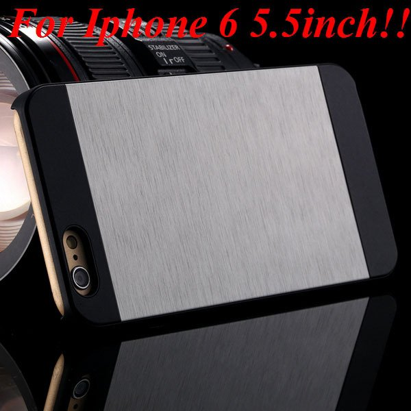 I6/6Plus Aluminum Shiny Metal Brush Hard Cover For Iphone 6 4.7Inc 32232320776-1-silver for plus