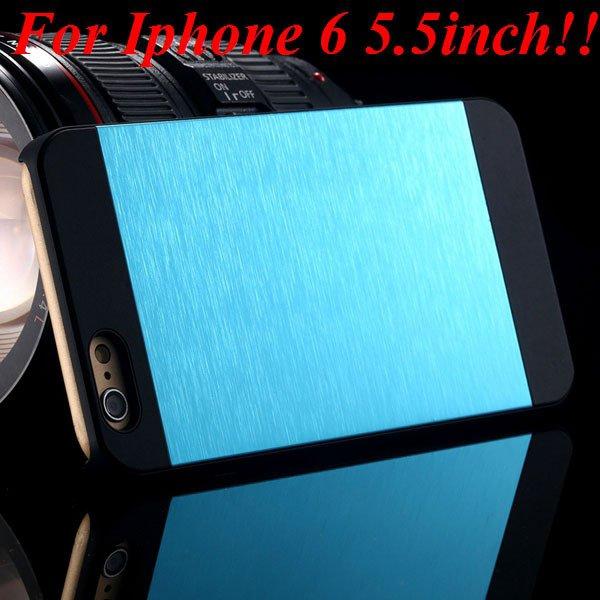 I6/6Plus Aluminum Shiny Metal Brush Hard Cover For Iphone 6 4.7Inc 32232320776-10-sky for plus