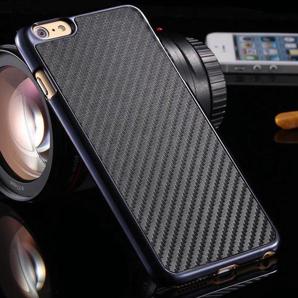 I6 Carbon Fiber Slim Hard Cover For Iphone 6 4.7Inch Back Case Wit 32251706070-1-black