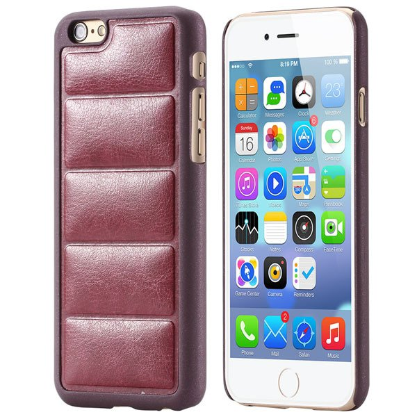 Luxury Sofa Grain Back Phone Case For Iphone 6 Plus 5.5Inch Pu Lea 32242241611-3-red