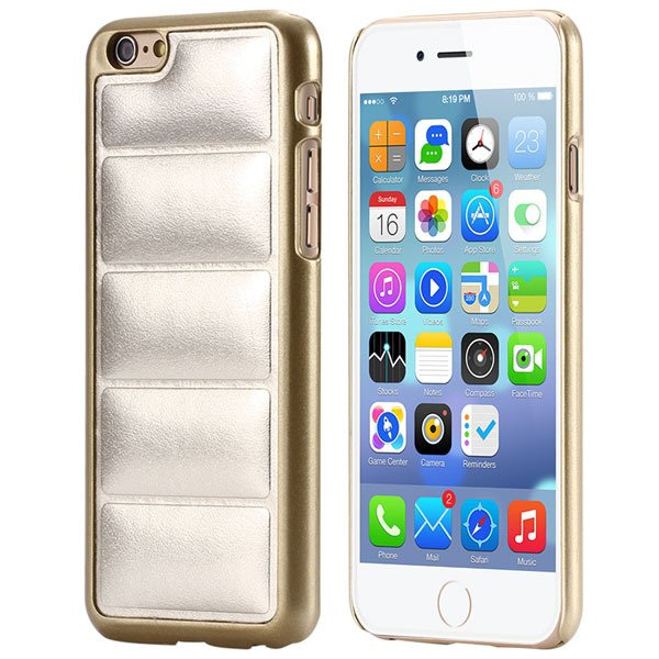 Luxury Sofa Grain Back Phone Case For Iphone 6 Plus 5.5Inch Pu Lea 32242241611-4-gold