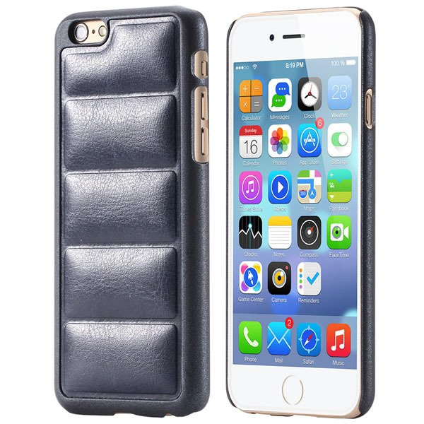 Luxury Sofa Grain Back Phone Case For Iphone 6 Plus 5.5Inch Pu Lea 32242241611-8-deep blue
