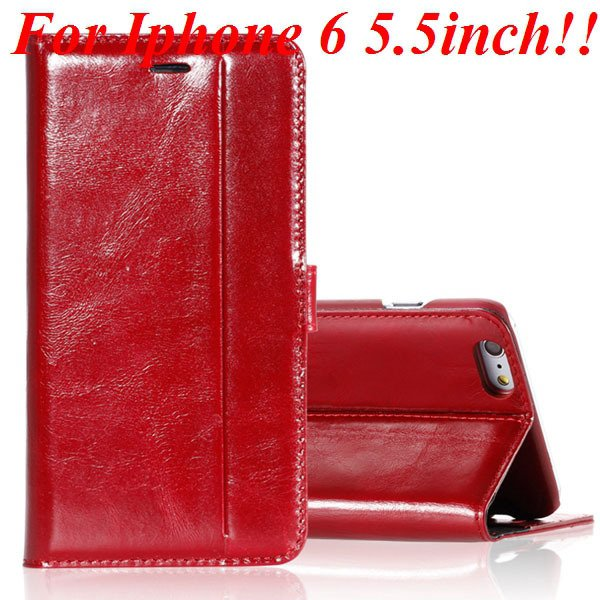 I6 Plus Genuine Leather Case Flip Cover For Iphone 6 Plus 5.5 Inch 32236644902-2-red