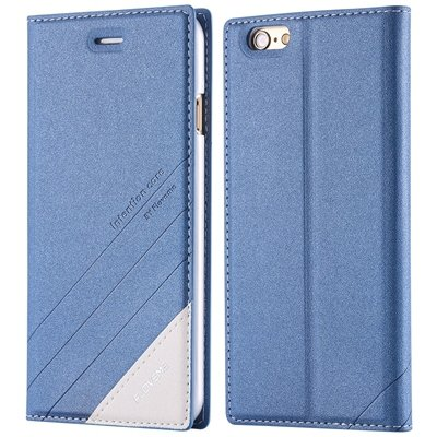I6 Magnetic Closed Case Premium Pu Leather Cover For Iphone 6 4.7I 32268138847-2-blue