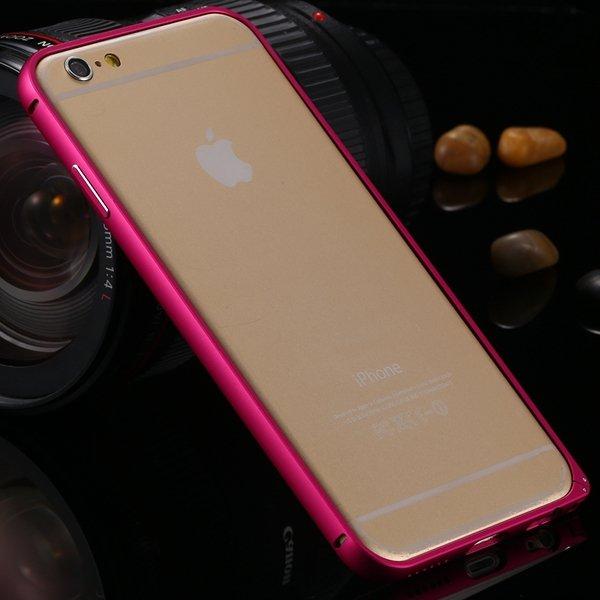 6 Plus Aluminum Case Slim Metal Frame Cover For Iphone 6 Plus 5.5I 32251363157-4-hot pink