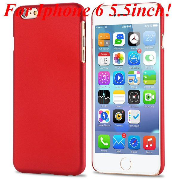 I6/6 Plus Slim Case Mat Lubricating Smooth Back Cover For Iphone 6 32281037773-2-red for 6 Plus