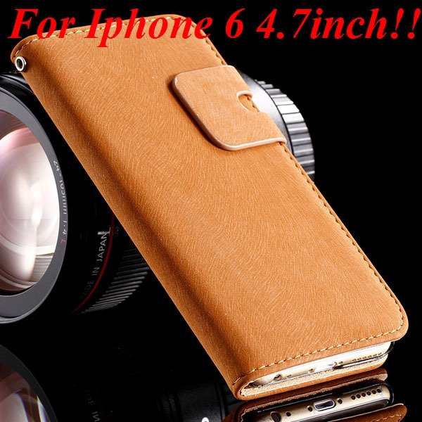 I6 Flip Case Luxury Smooth Pu Leather Cover For Iphone 6 4.7Inch F 32235574059-5-brown