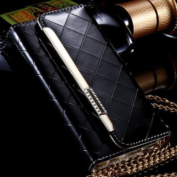 Paris Fashion Grid Pattern Pouch Bag Cover For Iphone 6 4.7Inch Le 32254271349-5-black