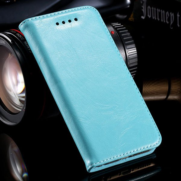 Magnetic Protect Flip Cover For Iphone 6 4.7Inch Genuine Leather C 32249949350-5-sky blue