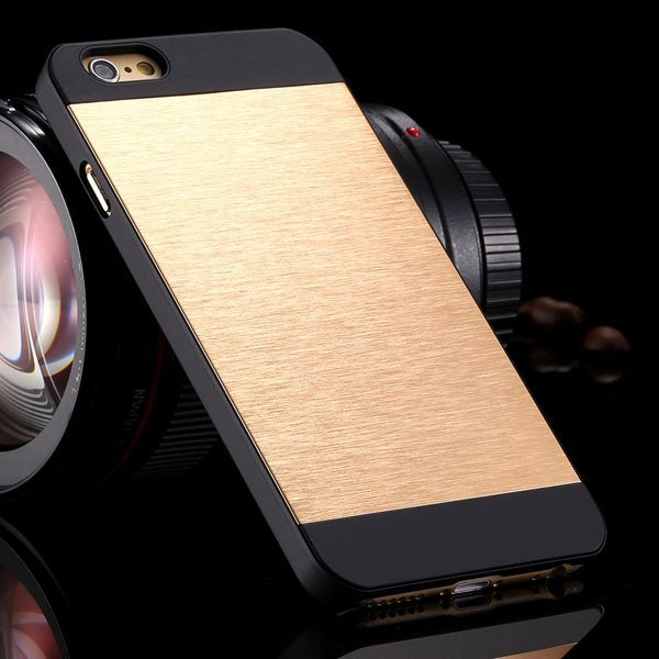 I6 Plus Aluminum Metal Brush Hard Cover For Iphone 6 Plus 5.5Inch  32231722508-4-light gold