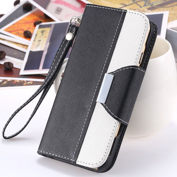 Pu Leather Wallet Cover For Iphone 6 Plus 5.5Inch Comprehensive Pr 32213846883-5-black
