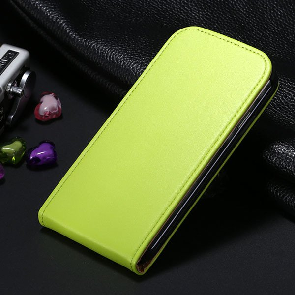 S4 Flip Genuine Leather Case Full Cover For Samsung Galaxy S4 Siv  1790450925-3-green