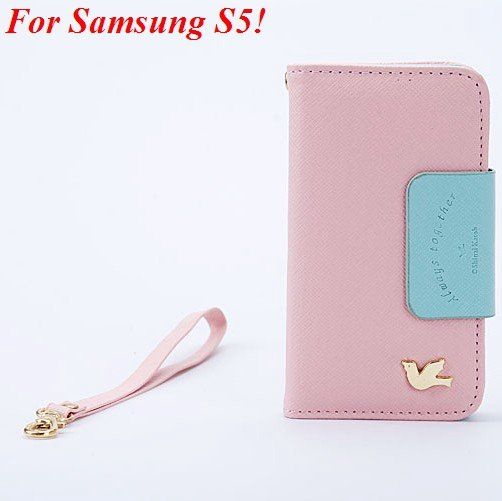 S5 Flip Case Full Protect Cover For Samsung Galaxy S5 I9600 Pu Lea 1848871881-2-pink for S5